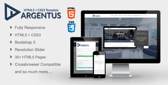 Argentus – Responsive HTML5 / CSS3 Template