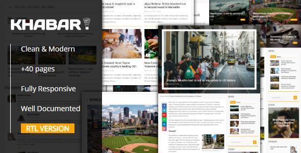 KHABAR – Responsive News Magazin Template
