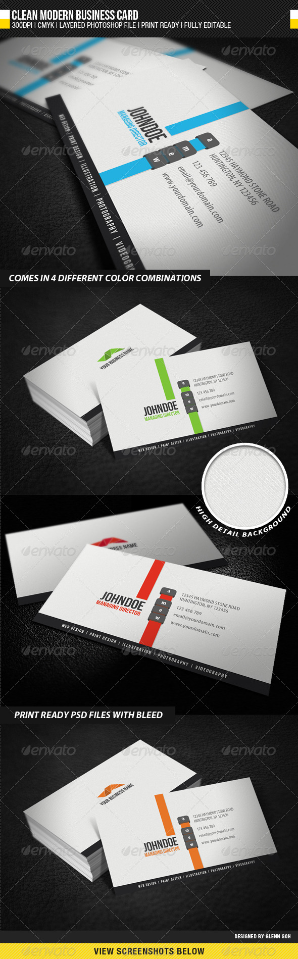 Clean Modern Business Card - Creative Business Cards