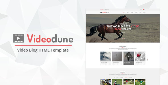 Videodune – Video Blog HTML Template