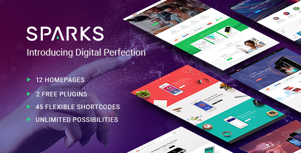 Sparks – A Modern Theme for App Creators, Startups, and Digital Businesses