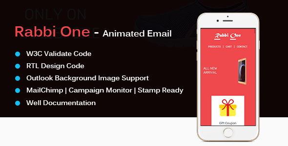 Rabbi One – Animated Email Template