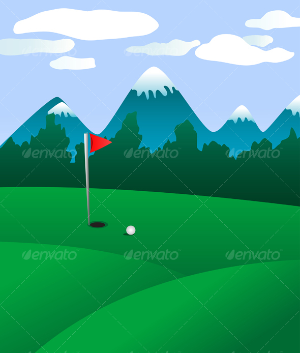 GraphicRiver Golf field landscape 74346