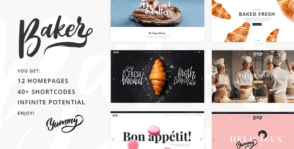 Baker – A Fresh Theme for Bakeries, Cake Shops, and Pastry Stores