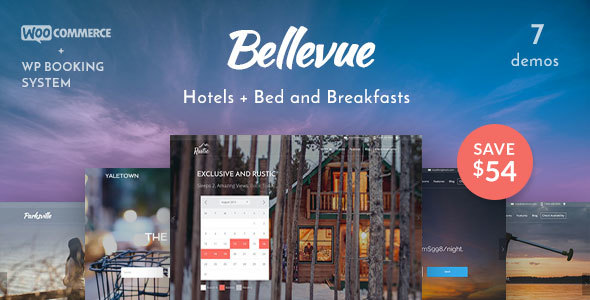 bellevue hotel bed breakfast booking theme travel retail
