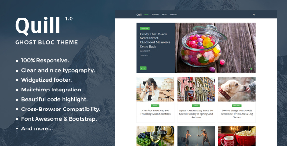Quill – Minimal Blog And Magazine Ghost Theme