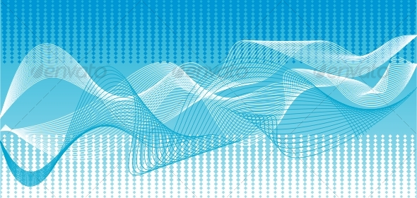 GraphicRiver Vector blue waves background 74398