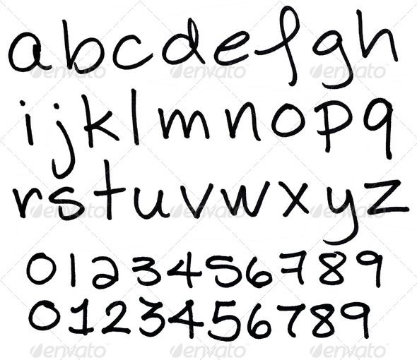 Alphabet in lower case black ink letters Stock Photo by Mirage3 ...