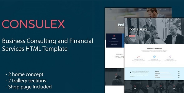 Consulex – Business Consulting and Financial Services HTML Template