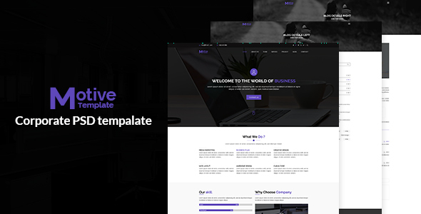 Motive – Corporate PSD Template