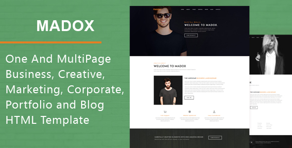 Madox – One and Multipage HTML Template