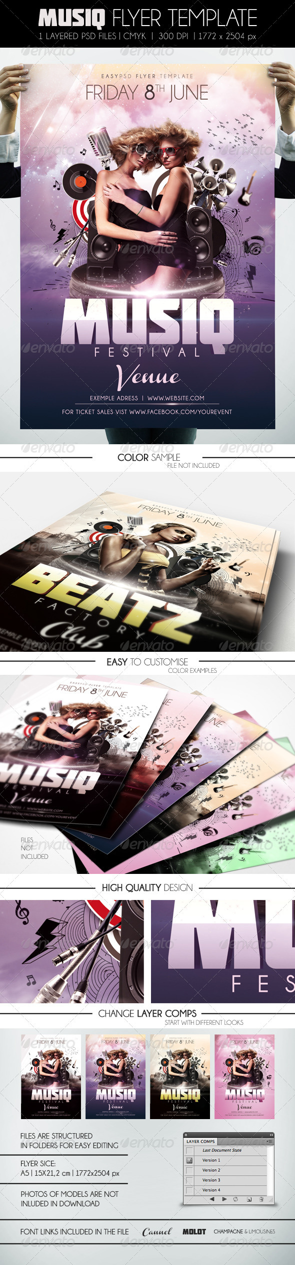 Musiq Flyer Template - Clubs & Parties Events