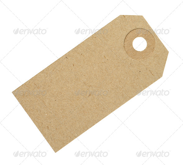 Blank Cardboard Tag Label - Stock Photo - Images