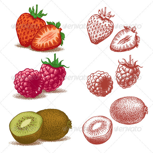 GraphicRiver Strawberry Raspberry Kiwi 1925752