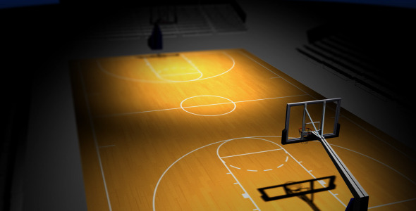 Rotating Basketball Court Motion Graphics Videohive