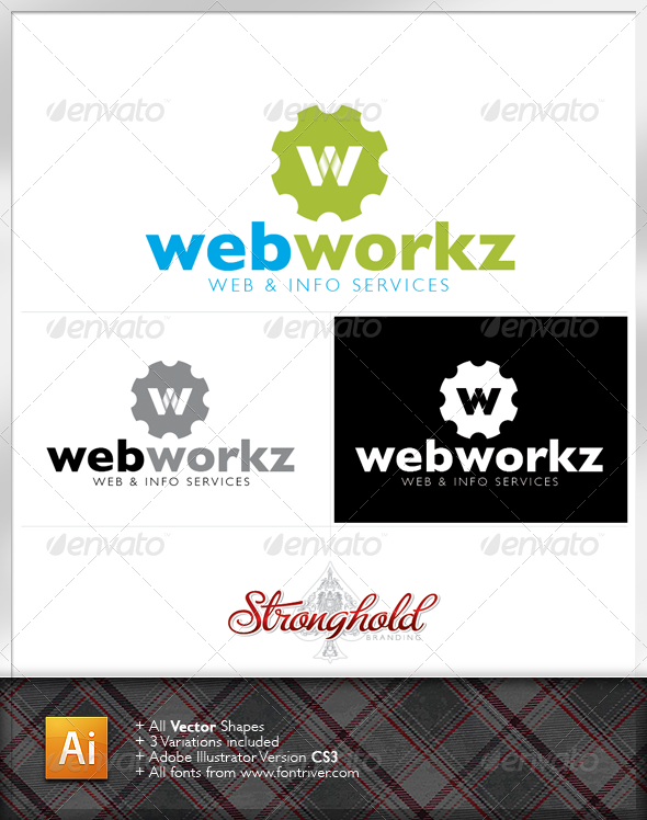 Graphic River Web Works Logo Template Logo Templates -  Letters 1926176