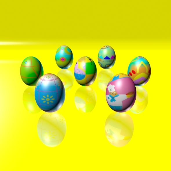 3DOcean Easter Eggs Set 04 1926340