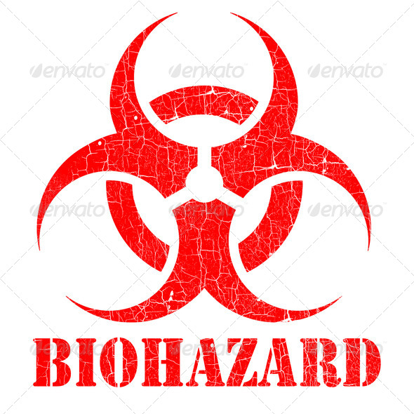 bio hazard stamp illustration - Stock Photo - Images