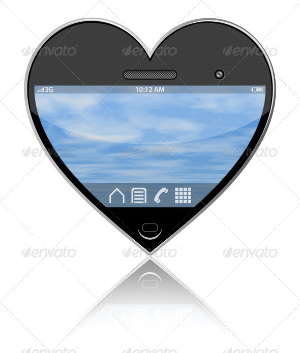 I love my smartphone - Stock Photo - Images