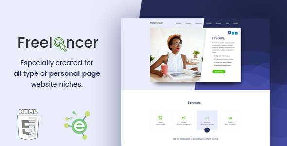 Freelancer – Creative Business & Portfolio Personal Page HTML5 Template