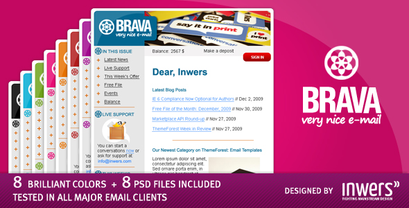BRAVA - a corporate nice e-mail - Inwers - Brava Preview