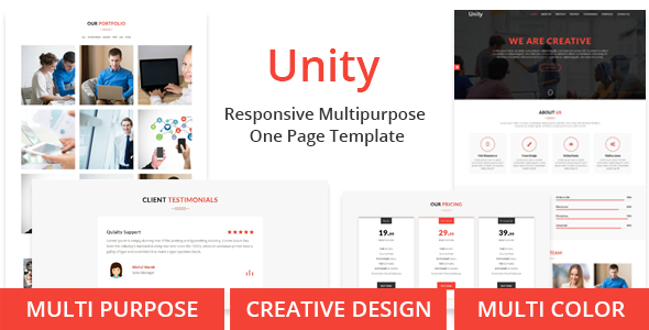 Unity – One Page Multipurpose Responsive Template