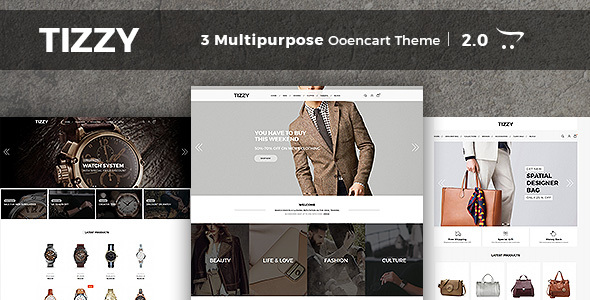 Tizzy – Multipurpose Responsive Opencart Theme | Fashion Store | Watch Store | Bag Store
