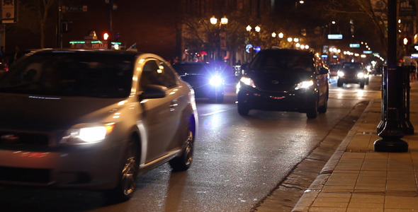 VideoHive Cars Driving Down City Street At Night 4 1928542