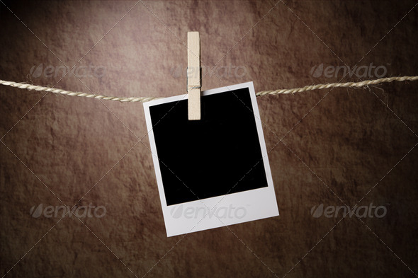 Empty instant photo - Stock Photo - Images