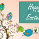 Animation Of The Tree With Easter Eggs Or Dots - VideoHive Item for Sale