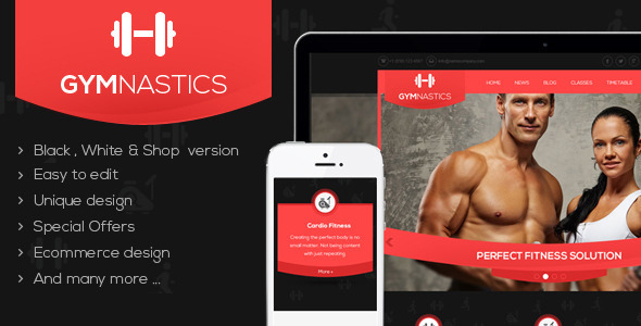 Gymnastics WordPress Theme