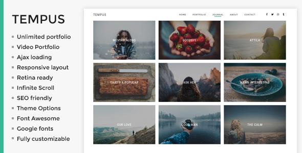 Tempus – Photography WordPress Theme