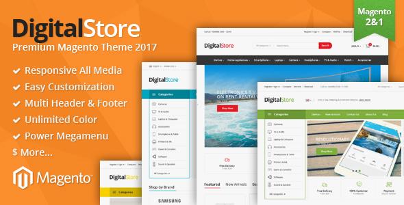 Digitalstore – Responsive Magento 1 & 2 Theme
