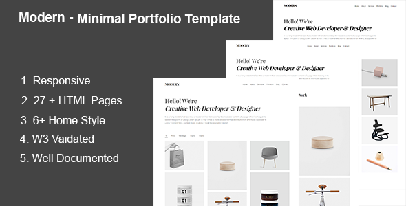 Modern – Minimal Portfolio Template