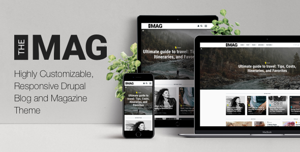 TheMAG – Highly Customizable, Responsive Drupal Blog and Magazine Theme