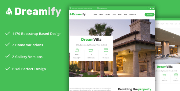 Dreamify – Single Property/Real Estate PSD Template!