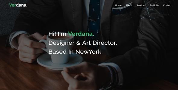 Verdana – Responsive Personal / portfolio template