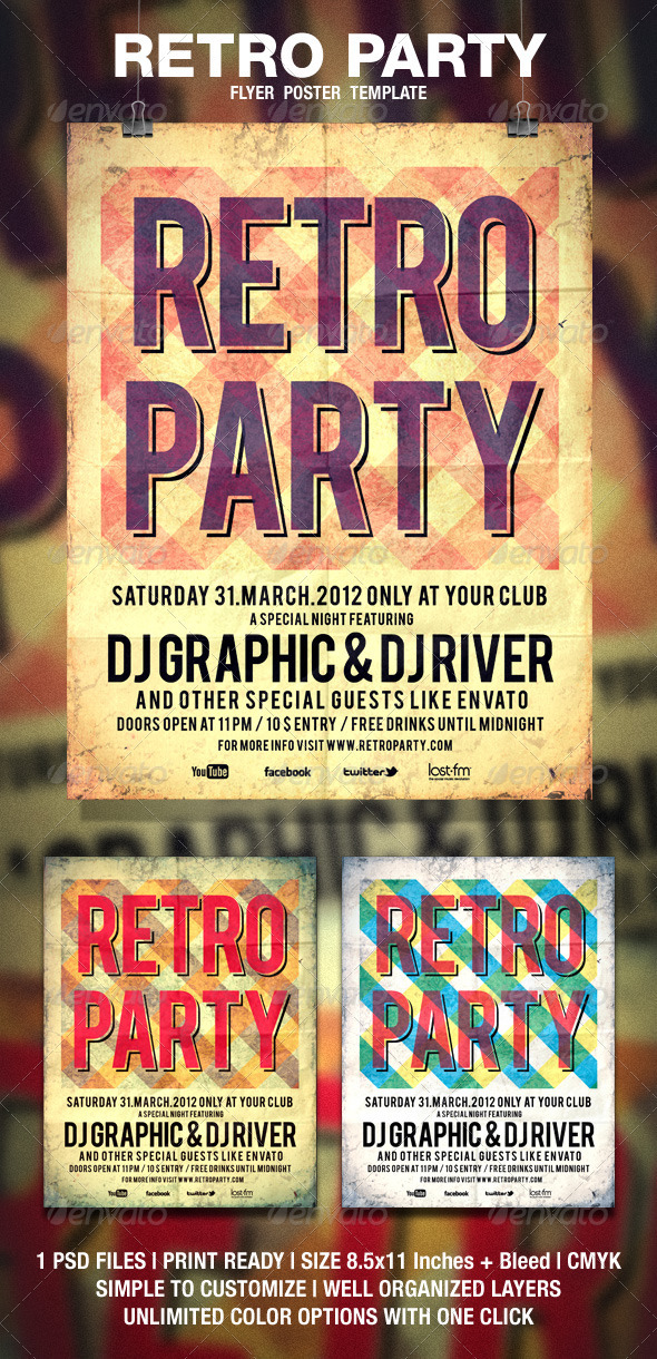 Retro Typography 2 Flyer / Poster - Events Flyers
