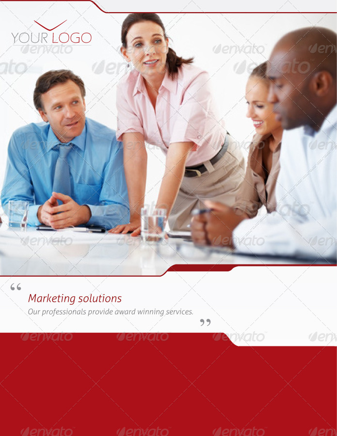 Marketing Solutions, Business A4 Brochure