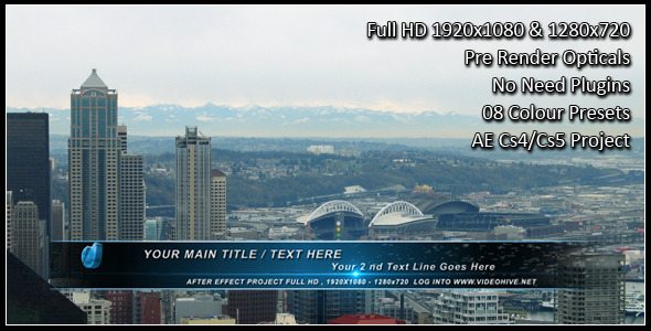 After Effects Project - VideoHive Partical Wipe Lower Third 1872285