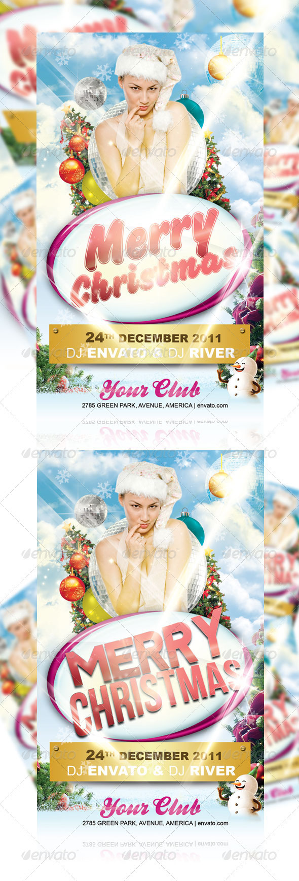 Merry Christmas Flyer Ver1 - Clubs & Parties Events