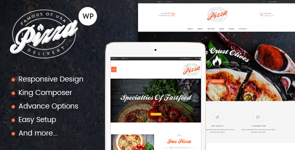 JMS Pizza – Responsive WordPress Theme