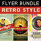 Retro Style Flyer Bundle - GraphicRiver Item for Sale