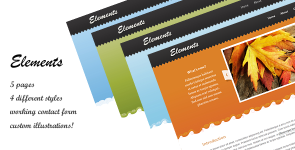 Elements Site Template