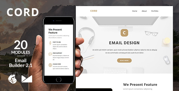 Cord Email Template + Online Emailbuilder 2.1