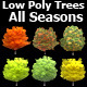 Low Poly Trees All seasons - 3DOcean Item for Sale