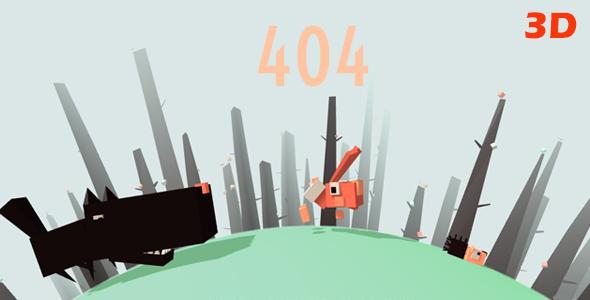 Rabbit – Responsive 404 Error Template