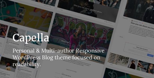 Capella – A Personal & Multi-author Responsive WordPress Blog Theme