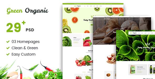 Green Organic – Organic Store & Bakery PSD Templates