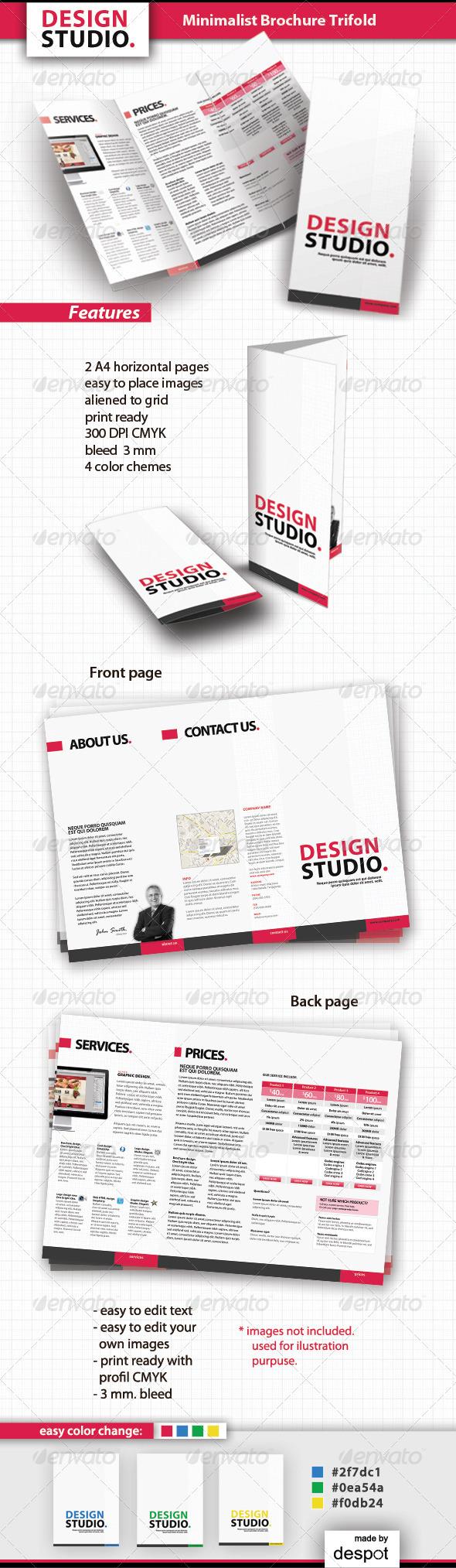 GraphicRiver Minimalist Brochure Trifold 1900237